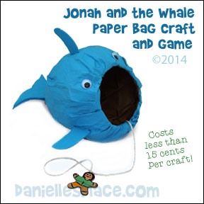 'Jonah and The Whale Paper Bag Craft and Game from www.daniellesplace.com - copyright 2014' from the web at 'http://www.daniellesplace.com/HTML/../images56/jonah-whale-paper-bag-craft-game.jpg'