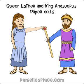 Queen Esther Paper Doll