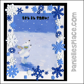 Let it Snow Polar Bear Poster Craft for Kids