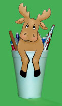 Moose pencil holder craft