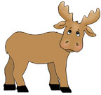 Moose Paper Craft for Kids