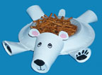 polar bear paper plate craft for kids