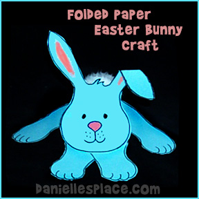 Folded Easter Bunny Paper Craft