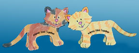 sunday school friends stick together cat bible craft