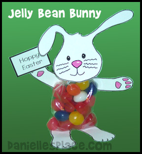 Easter Craft - Jelly Bean Bunny Craft www.daniellesplace.com