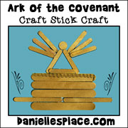 Craft Stick Picture of the Ark of the Covenant