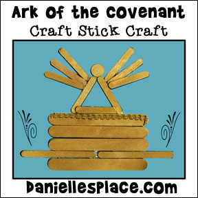 Ark of the Covenant Craft Stick Bible Craft for Children from www.daniellesplace.com