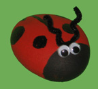 painted ladybug rock craft