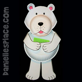 Paper Plate Bear Card Holder Valentine's Day Craft