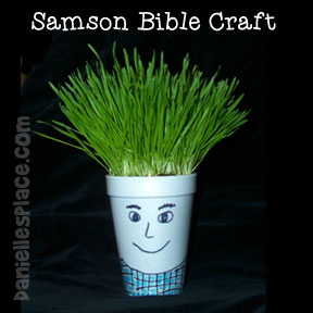 sunday school Samson with Grass Hair bible Craft