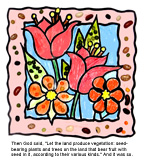 sunday school Creation Plants bible craft