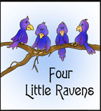 Four little Raven Printable Book for Sunday School