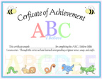 certificate of Achievement, ABC, I Believe