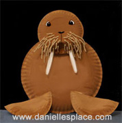 walrus Paper Plate Craft