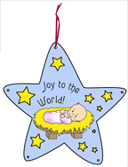Jesus Star Christmas Ornament