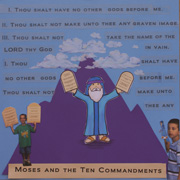 Sunday School Bible Craft Moses and The Ten Commandments Scrapbook Page from www.daniellesplace.com