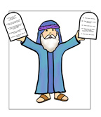 sunday school Moses and The Ten Commandments bible craft
