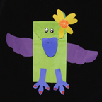 Paper Bag Puppet Craft - The Royal Raven