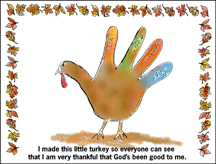 Thanksgiving Turkey Activity Sheet Craft