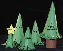 Secret Message Christmas Tree Craft