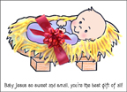 Baby Jesus Christmas Gift Craft