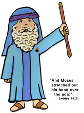 sunday school Moses Bible Activity Sheet bible craft