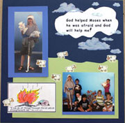Sunday School bible craft scrapbook pages from www.daniellesplace.com