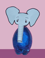 earth day Elephant Bubble Bath Craft for Kids