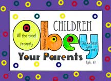 sunday school Obey Parents Poster bible craft from www.daniellesplace.com