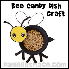 Bee Candy Dish Craft for Kids from www.daniellesplace.com