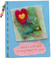 Felted Heart Card Craft
