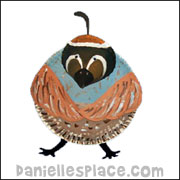 Quail Paper Plate Craft