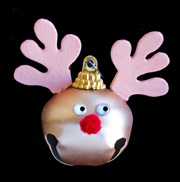 Reindeer Bell Ornament
