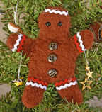 Felted Gingerbread Man Craft