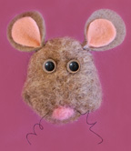 Wet-felted mouse Craft for Kids