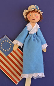 Stick Puppet Betsy Ross Puppet