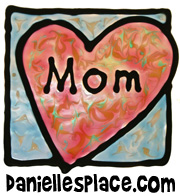Mother's Day Window Cling Craft www.daniellesplace.com