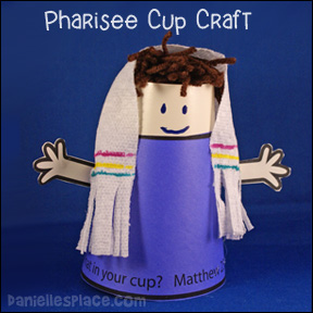 sunday school Pharisee cup doll bible craft for kids