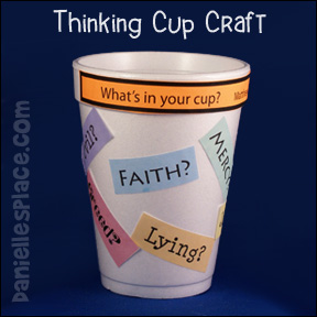 sunday school Thinking cup bible craft for kids