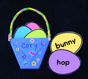 Easter Eggs and Paper Easter Basket Craft