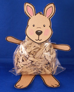 Kangaroo Stuffed Toy Craft for kids