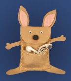 Kangaroo iPod Pouch Craft