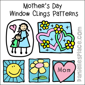 Free Mother's Day Window Cling Patterns
