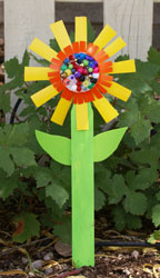 sunday school Paper Cup Sunflower bible craft
