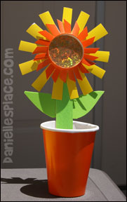 sunday school Sunflower Treat Cup bible Craft from www.daniellesplace.com