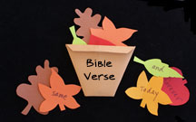 Basket Full of Leaves Bible Verse Review Game from www.daniellesplace.com