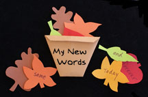 Thanksgiving Basket Full of Leaves Paper Craft