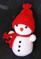 snowman and woman craft