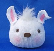 Bunny head Sock Doll