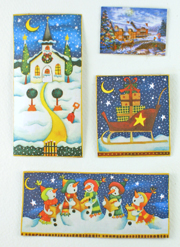 Christmas Card Refrigerator Magnets